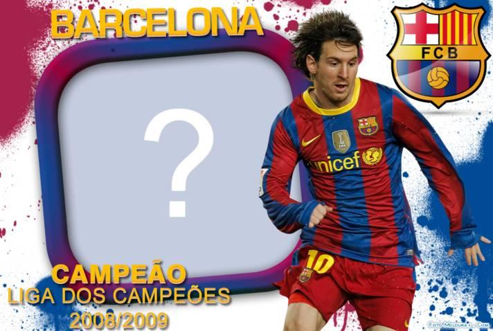 Moldura Barcelona Campeao Liga Dos Campeoes