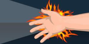 Quem colocaria as mãos no fogo por você?