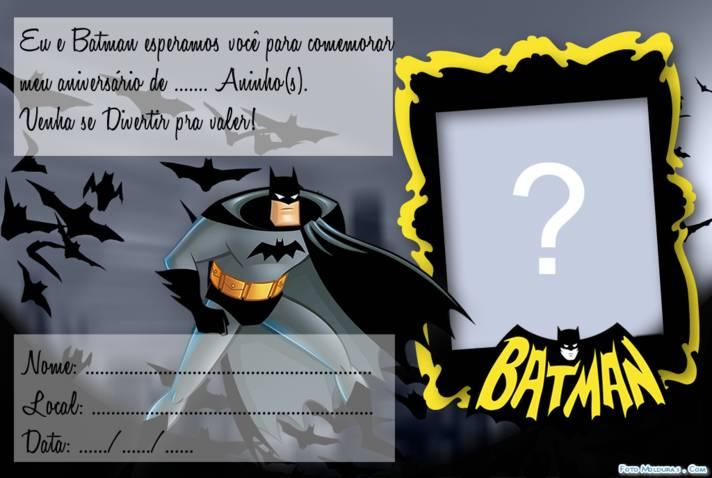Moldura Convite Do Batman