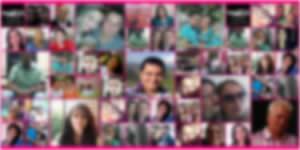 Mosaico pink com 50 amigos do Facebook! Crie o seu.
