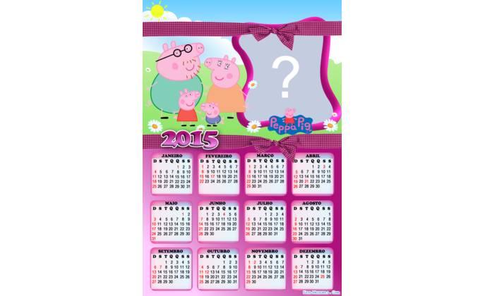 Moldura - Calendario Familia Peppa Pig
