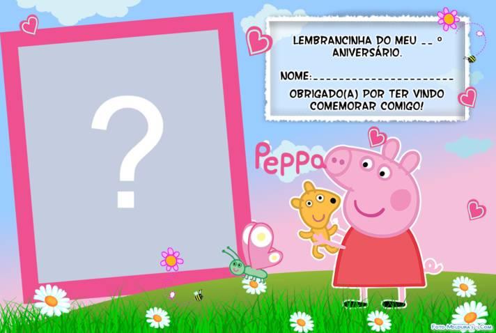 Moldura - Lembrancinha Peppa Pig