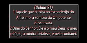 Moldura Salmo 91 com 9 Fotos. Faça a Sua!