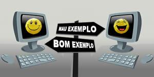 Quem te da BOM e MAU exemplo na Internet?? Vamos analizar seus amigos para descobrir!