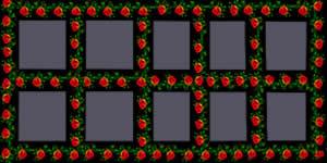 Mosaico de Rosinhas Vermelhas com 15 Amigos. Faça o seu!
