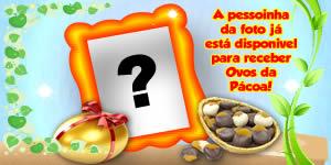 Moldura - Já estou disponível pra receber ovos de Pascoa!