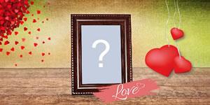 Cornice foto di amore. Aggiungi la tua foto!