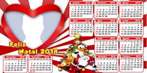 Calendário 2018 de Natal