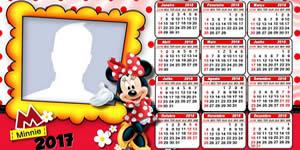 Calendario 2018 da Minnie Vermelha