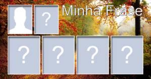 Mosaico para sua foto + 5 amigos + Frase que você quiser!
