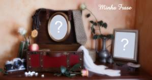 Montagem para 2 fotos em uma bela decoração, com bolsa e porta retrato!