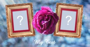 Photo frame for two photos with purple flowers and a note of your choice!