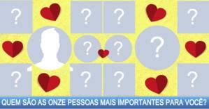 Quem são as onze pessoas mais importantes para você?