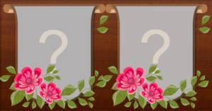 Moldura de flor para duas fotos. Crie a sua!