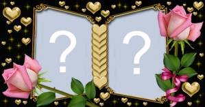 Album dourado com rosas. Quais as duas fotos que você colocaria nele?