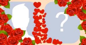Colagem romântica com a foto sua e a do amor da sua vida. Faça a sua!