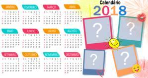 Calendário 2018 com 4 das suas fotos mais curtidas de 2017. Faça o seu!