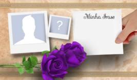 Escreva um Cartãozinho para seu Amigo. Digite sua Frase e selecione o Amigo!