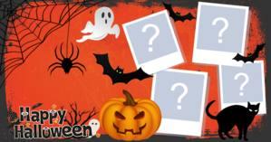 Montagem Happy Halloween com 4 fotos. Crie a sua!