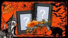 Moldura Halloween com as duas últimas fotos do seu perfil. Crie já a sua!