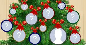 Which friends will decorate your Christmas tree?