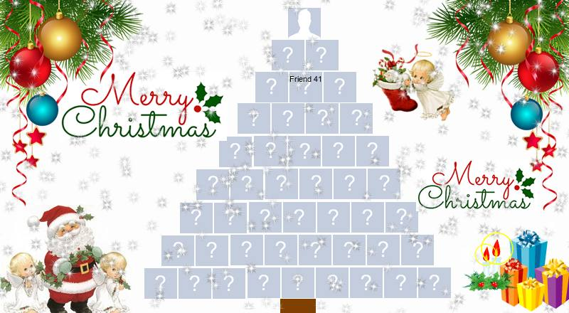 Create a beautiful Christmas tree with 44 facebook friends!