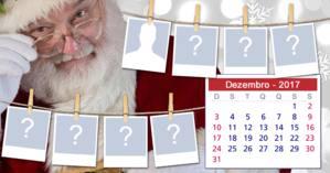 Calendário natalino de Dezembro de 2017 com 7 amigos! Faça o seu...