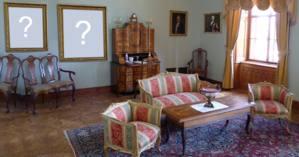 Quais as duas Fotos do seu Albúm que você colocaria na parede desta Sala?