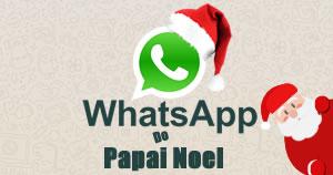 Como foi a sua conversa com o Papai Noel no Whatsapp?