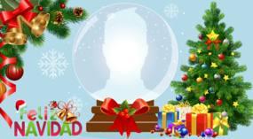 ¡Globo de Navidad con tu foto del perfil!