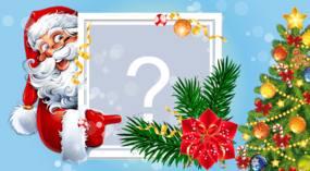 Coloca tu foto favorita en este hermoso marco de Santa Claus