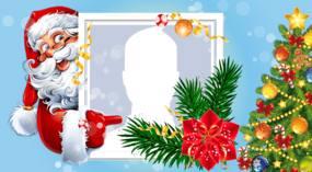 Metti la tua foto preferita in questa bella cornice di Babbo Natale.