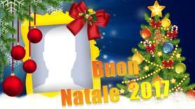 Bella cornice di Natale con la tua foto del profilo. Crea il tuo