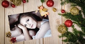 Beautiful photo frame with Christmas theme! Add a photo from your album!
