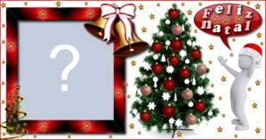 Moldura com Árvore de Natal. Qual foto você colocaria?