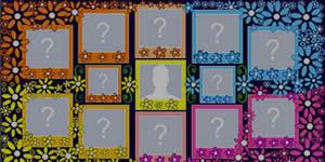 Mosaico de 12 amigos com muitas flores! Faça o seu...