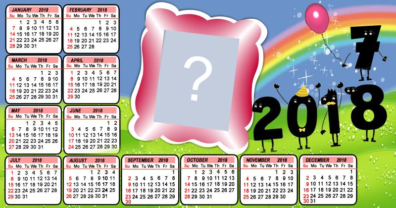 New year calendar 2018 which photo would you put
