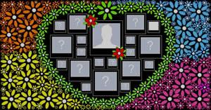 Mosaico de coração com flores e 19 amigos! Faça o seu