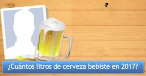 ¿Cuántos litros de cerveza bebiste en 2017?