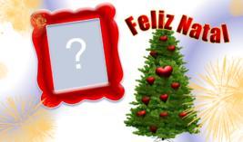 Linda Moldura com Arvore de Natal. Coloque sua Foto!