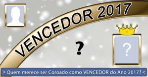 Quem você escolheria para coroar como VENCEDOR do Ano de 2017?