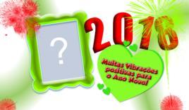 Moldura com Energias Positivas para 2018. Escolha qual Foto você colocaria!