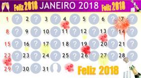 Calendário Janeiro 2018 com 30 amigos. Faça o seu!