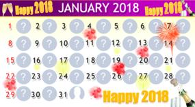 January Calendar with 30 friends. Make yours!