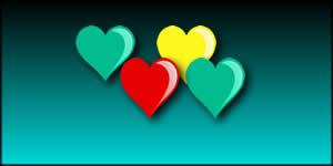 Moldura de Coraçoes Coloridos. Faça com Foto Sua + 4 Amigos!
