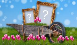 Garden Cart Frame with two Photos. Make yours!