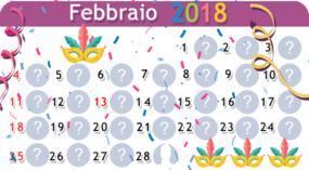 Calendario di febbraio con 27 amici. Fai il tuo!