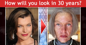 How will you look in 30 years?