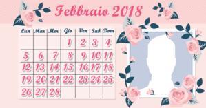 Calendario di febbraio con la tua foto del profilo. Fai il tuo!