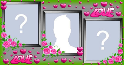 Roses photo frame with two friends!